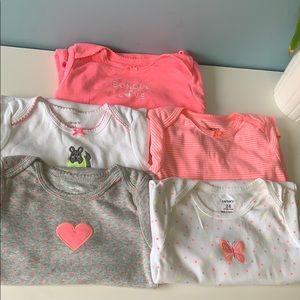 Set of Carter's onesies